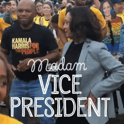 Ladies and gentlemen, I present to you.... VICE PRESIDENT @KAMALAHARRIS!!!!!