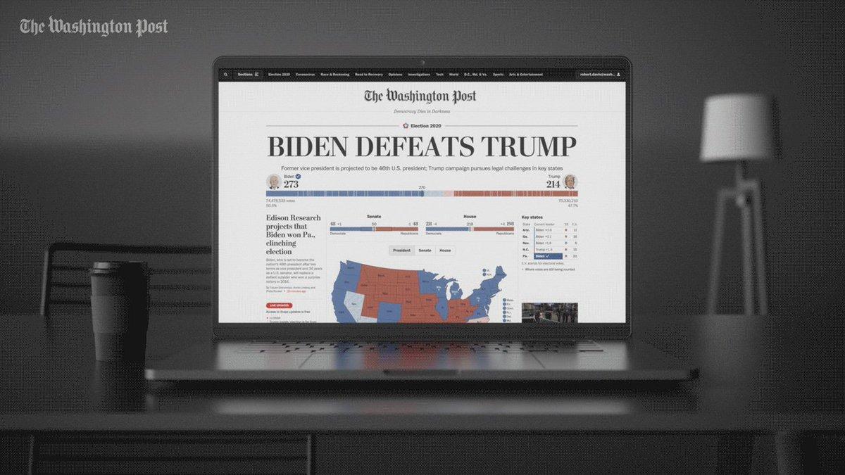 Image for the Tweet beginning: BIDEN DEFEATS TRUMP: Five days