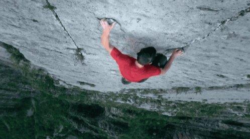 Free Solo Climbing GIF