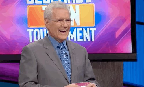 Alex Trebek GIF by Jeopardy!