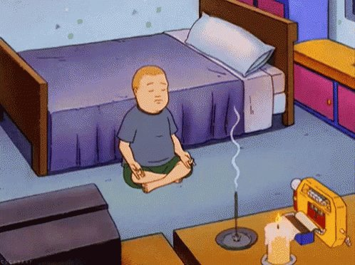 Bobby Meditating - King Of The Hill GIF