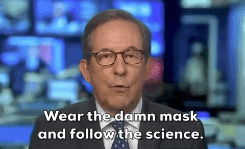 Chris Wallace Wear A Mask GIF by GIPHY News