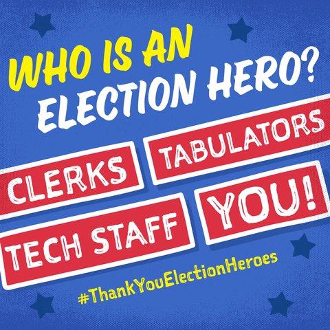 True American heroes.✊🏻#ThankYouElectionHeroes #SaturdayMorning