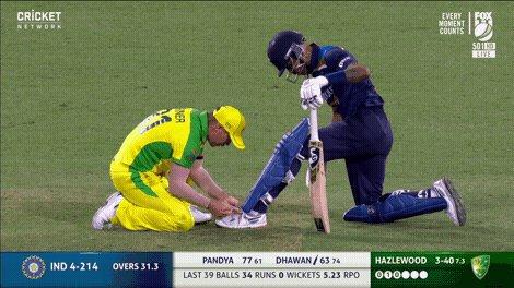 Spirit of cricket 🤜 🤛 #AUSvIND