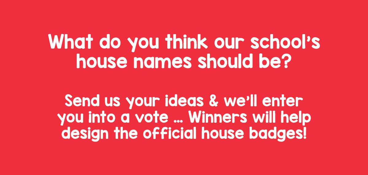 We still need your ideas for our School House names! Our NEW #Barnsley school will have 4 houses that compete against each other for points & prizes...  Our Principal has challenged you to come up with the house names & if you're feeling extra creative, the house logos 🤩🎨🏆