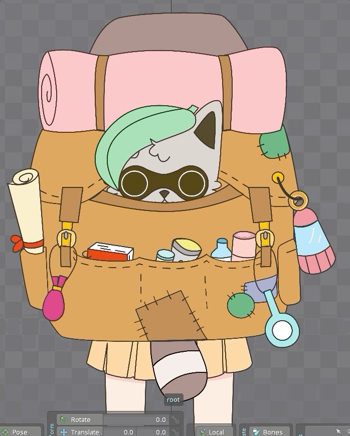 Alex #traveling  starting her #adventures this #fridaymorning , what are your plans for this #weekend ? :) @HannieEcho  #madewithspine #animation #gamedev #indiedev #IndieGameDev