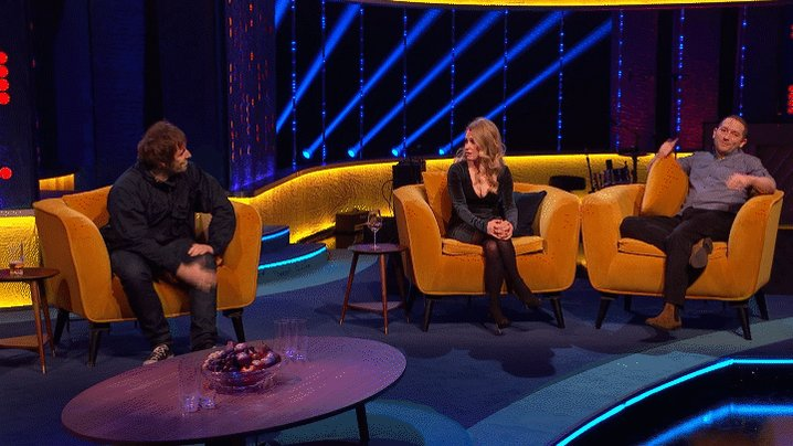"""We've had sex to your music!"" @LiamGallagher has had quite the effect on @RonJichardson and @LucyABeaumont!  #TheJRShow @ITV @WeareSTV @wossy"