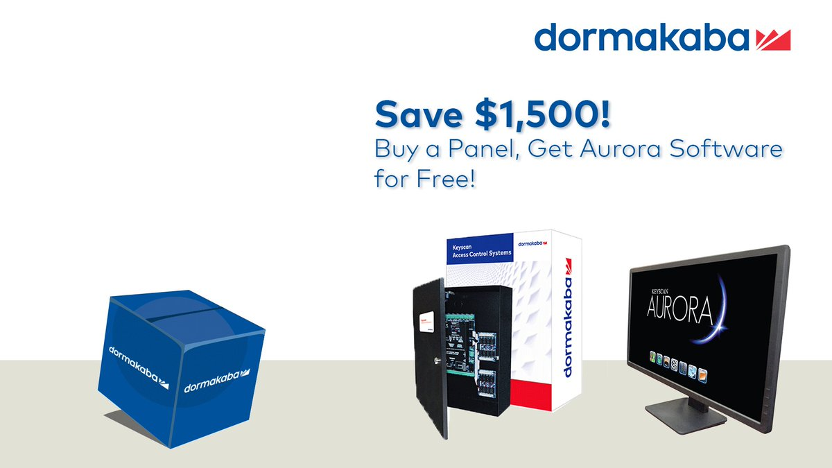What better time to get doorbuster savings than #BlackFriday! Buy a CA4500 or CA8500 Panel, Get #Aurora Software for free. Contact your Keyscan Dealer or Integrator for details.   If you do not have a dealer, we'll be happy to make a referral. https://t.co/irjdOuE5XH https://t.co/xrcC8RuA3D
