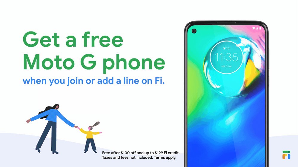 Find a phone you ❤️ that fits your family's budget.  For a limited time, get a free Moto G phone after $100 off and up to $199 in Fi credit when you join or add a line on Google Fi.  Shop Moto G phones on Fi: