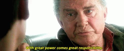 With Great Power Comes Great Responsibility GIF