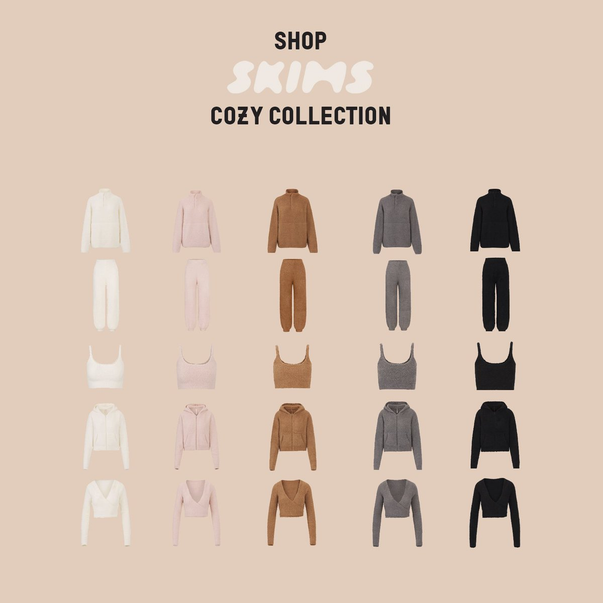 Replying to @KKWMAFIA: Shop @SKIMS New Cozy Styles & Cozy Kids now only at