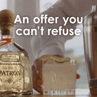 Happy Hour Cocktails GIF by Patrón Tequila