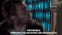 Obi Wan Perhaps The Archives Are Incomplete GIF