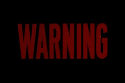 Neon Warning GIF