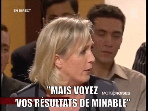marine le pen archive GIF by franceinfo
