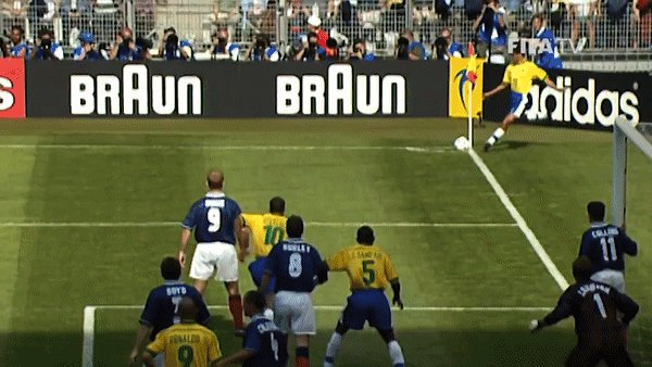 🇧🇷 Cesar Sampaio was the unlikely goalscorer for @CBF_Futebol as he squeezed in between three Scottish defenders at the near post to head in the opening goal of France 1998 🇫🇷  #2YearsToGo | #WorldCup