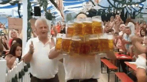 27 Mugs Of Beer! GIF