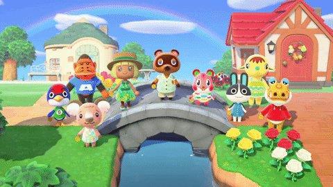 Animal Crossing Celebration GIF