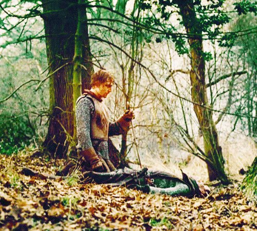 HOTSPUR-The earthy and cold hand of death                   Lies on my tongue. No, Percy, thou art dust,                   And food for –  (He dies) PRINCE HAL -For worms, brave Percy.  1 Henry IV #ShakespeareSunday