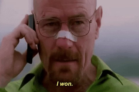 Bryan Cranston Win GIF by Breaking Bad