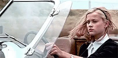 Reese Witherspoon Cruel Intentions Driving Convertible GIF