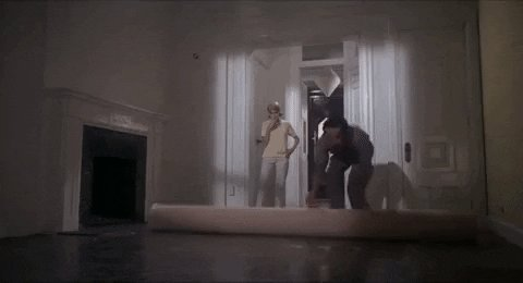 mia farrow carpet GIF