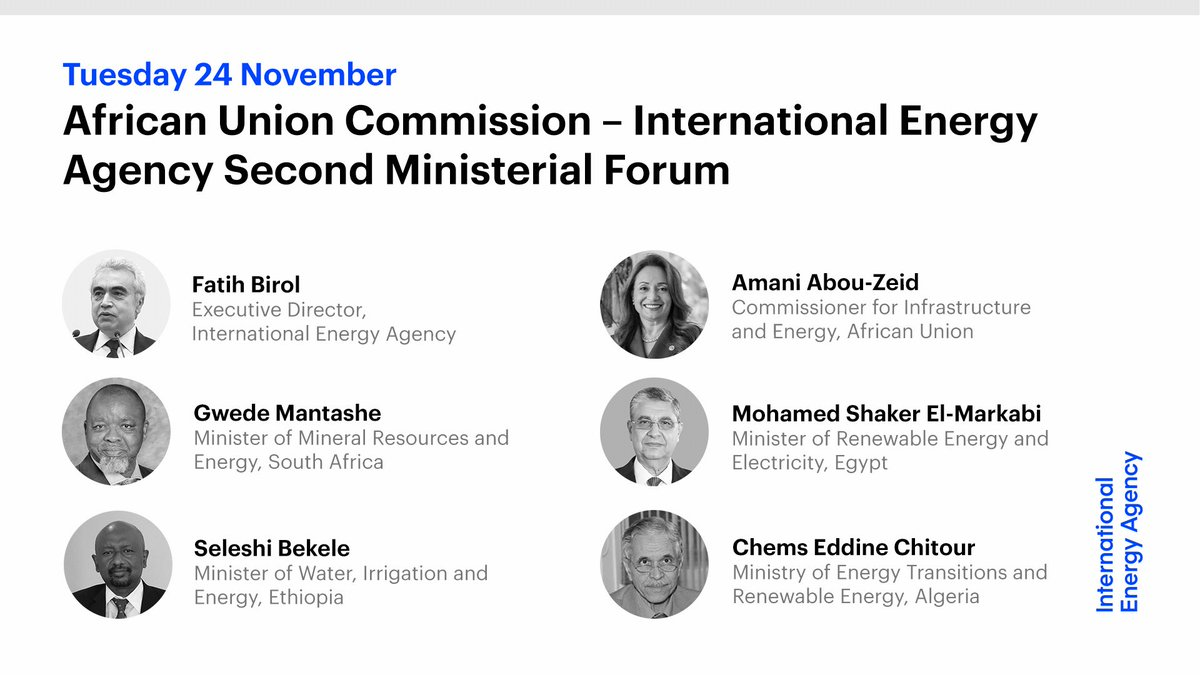 Tomorrow, Commissioner @HEDrAbouZeid, Minister @GwedeMantashe1 & I will host the 2nd @_AfricanUnion-@IEA Ministerial Forum.  Ministers & other 🌍 energy leaders will come together to discuss Africa's energy future post-#Covid19.  Watch live from 13:00 CET: