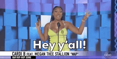 Poppin' in late to my zoom calls like... #AMAs @theestallion