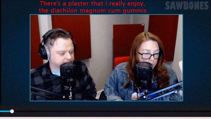 "Sydnee tries to bait Justin with the phrase ""dissolving hardness"" #sawbones #MBMBaMLive"