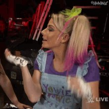 I love how much fun Alexa Bliss is having right now. #WWERaw