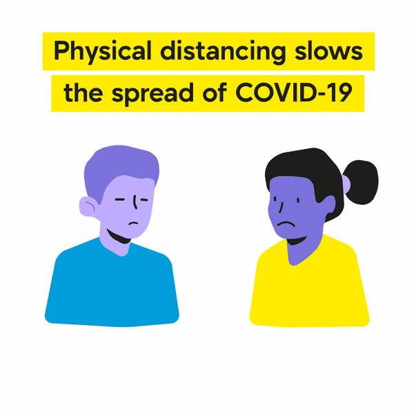 Physical distancing slows the spread of #COVID19. Keep at least 6ft/2m distance between yourself and others to reduce your risk of infection.