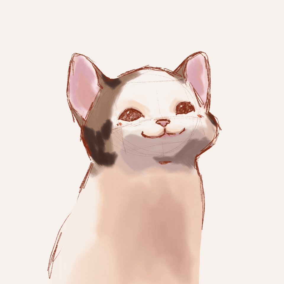 Replying to @lyyliith: #WIP #cat #Memes #Procreate #art