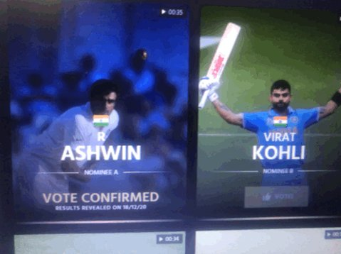 The only bowler to be nominated in what was a batsman's decade!!! In one of #DRSwithAsh  episode he said exactly that.. he want people to take up bowling.. Voted @ICC                Ps @ashwinravi99  Anna it's my birthday can I get as wish from you