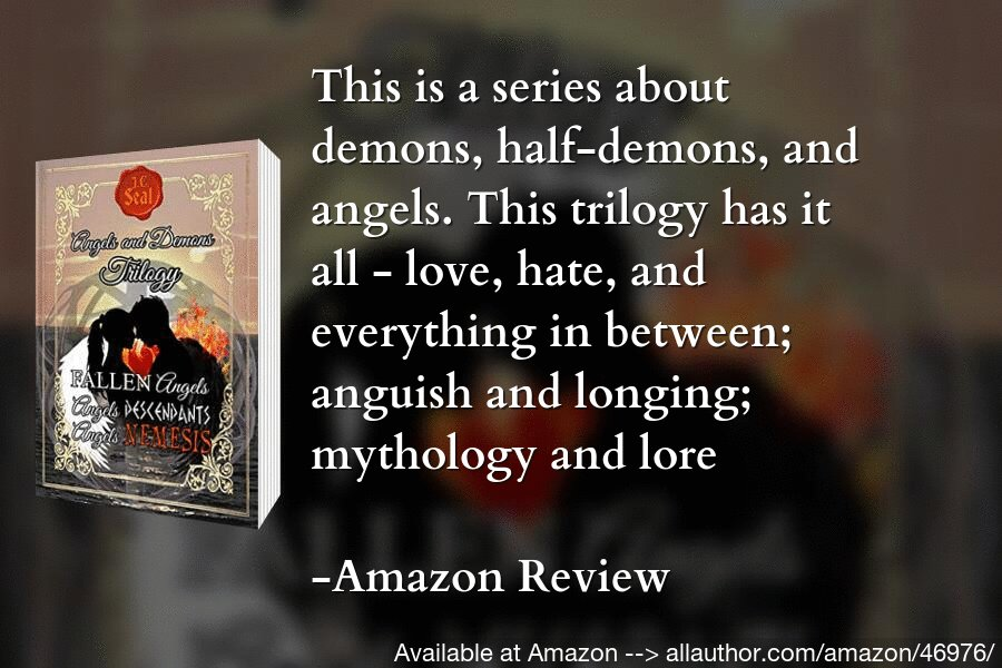 There are mixes of religion and mythology in a way that makes you believe this could all be true. Grab a copy of the #Angels and #Demons Trilogy now. #paranormal, #adventure, #romance