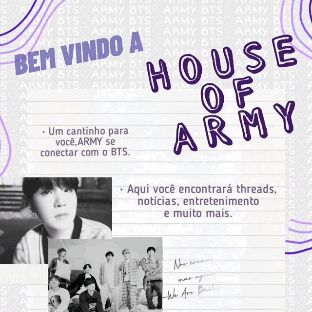 ✨ House of Army ✨  • projeto dedicado ao @BTS_twt   • email para contato: houseofarmy_bts@outlook.com   • instagram:   • temos grupo no WhatsApp, solicite o link via dm 💜