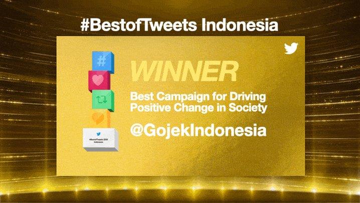 For all the winning brands that led the way for others, Tweet on!  @GojekIndonesia @Tokopedia @IM3Ooredoo @BankMandiri @shopeeID @SehatAQUA @NetflixID @SamsungID  #BestofTweets Indonesia
