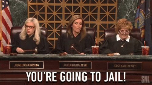 Youre Going To Jail Judges GIF