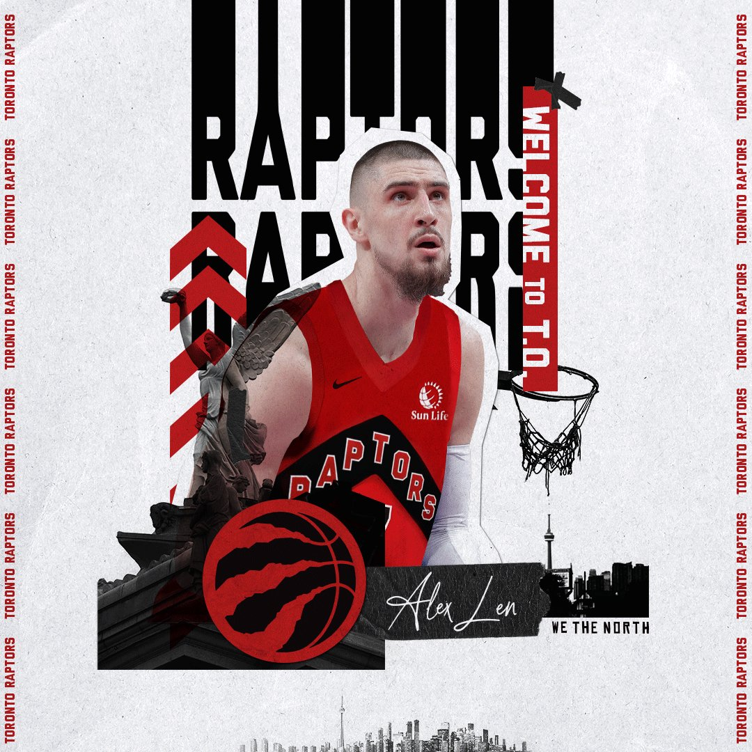 Welcome to the squad, @alexlen. #WeTheNorth   📰 » https://t.co/zL89bS9A8B https://t.co/PnFj24SQXZ