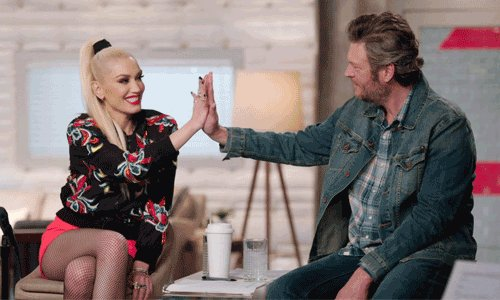 """""""Happy Anywhere"""" reaches a NEW PEAK today in Radio US OVERALL, #17 (+1)!  """"Nobody But You"""" reached #15, will """"Happy Anywhere"""" do better? ❤️ @gwenstefani @blakeshelton ❤️"""