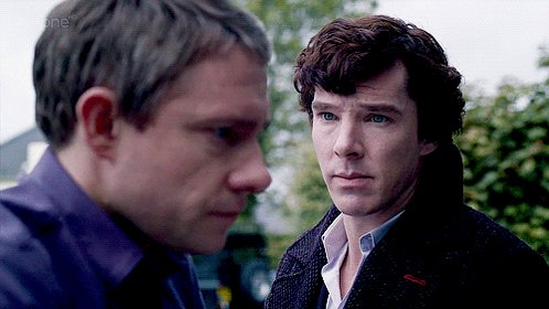 Just watched the first episode of Sherlock and I'm loving the homoerotic tension between S and W the
