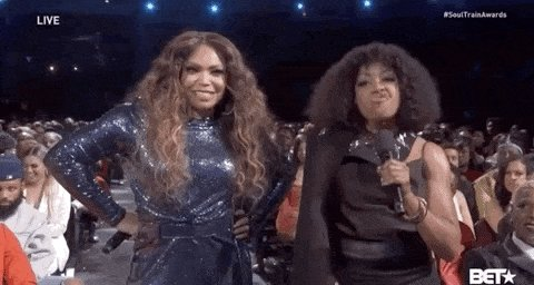 @TishaCampbell #SoulTrainAwards I just love seeing you and Tichina on my screen again ❤