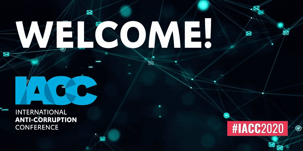 The wait is over. Welcome to the #IACC2020!💙Over the next 6 days, 500+ speakers and thousands of attendees will shape the anti-corruption agenda for the years to come. Check out the schedule and join the sessions you like!  ➡️ https://t.co/qE4ZotfmoQ https://t.co/CUqJrrNbPe