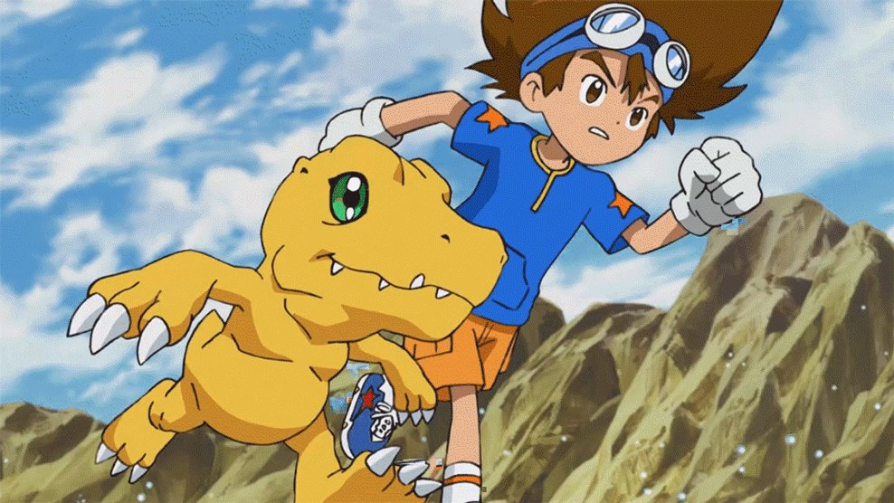 Image for the Tweet beginning: Who would your Digimon partner