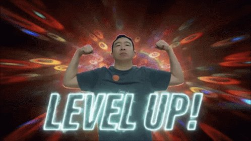 Level Up Flexing GIF