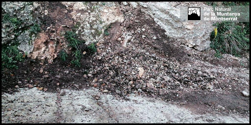 Després de set dies de feina i molta pedra (unes 8 T.), el mur de #pedraseca del camí de Sant Miquel ja està acabat. Un mur de 12 m² amb 8 lineals i 1,5 m d'alçada. #SetmanadelaPedraSeca Molt bona feina companys! 💪👍 https://t.co/70DZOufkKu