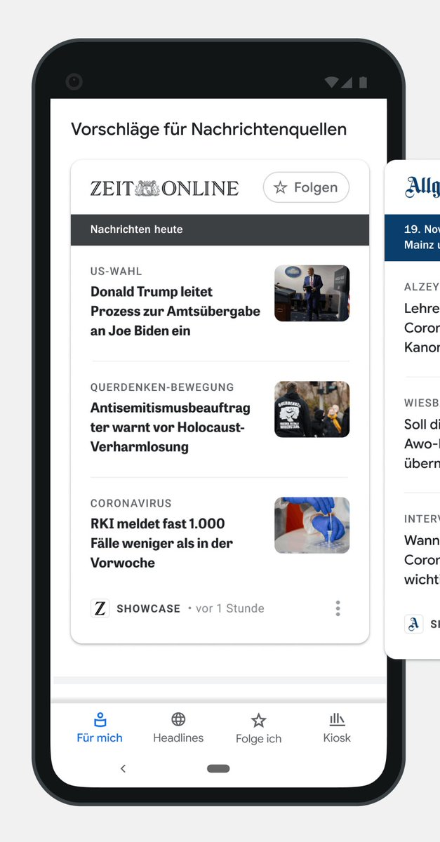 It's also now easier for people to find even more valuable content from the news organizations they trust; a new type of News Showcase panel includes a list of important articles selected daily by their favorite publishers. 3/