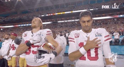 I miss this two fine men! @JimmyG_10 @gkittle46 #49ers #jimmyg #kittle