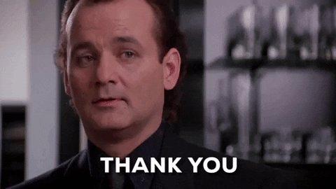 Bill Murray Thank You GIF by filmeditor