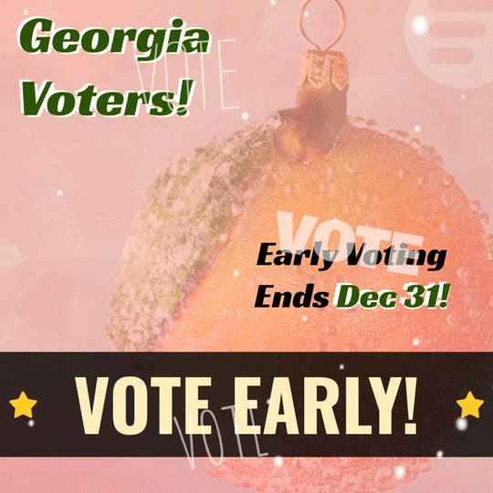 All I want this holiday season is for YOU to go vote early! Georgia, your voice will decide the next four years - don't wait any longer! Make sure you head to  so you have everything you need before you head to the polls! #VoteEarlyGA #GAvotes