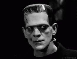 Frankenstein Stare GIF